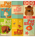 pet shop posters vector image vector image