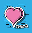 pop art heart fashion patches vector image