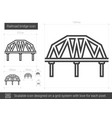 railroad bridge line icon vector image vector image