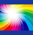 rainbow concept background vector image vector image