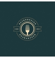 Restaurant Shop Design Element in Vintage Style vector image vector image