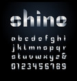 ribbon font alphabet with silver effect letters vector image vector image