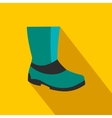 Rubber boots flat icon vector image vector image