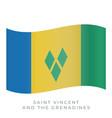 saint vincent and grenadines waving flag vector image