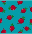 seamless pattern pomegranate on azure background vector image vector image