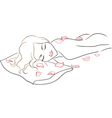 Series Spa Salon Massage woman with rose petals vector image vector image