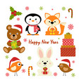 set new year characters vector image