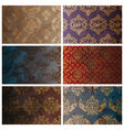 set of abstract seamless vintage background vector image vector image