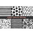 set six stylish patterns vector image vector image