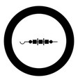 shish kebab icon black color in circle vector image vector image
