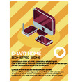 smart home color isometric poster vector image vector image