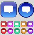 speech bubble Chat think icon sign A set of twelve vector image