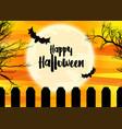 spooky halloween landscape vector image vector image