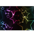 Star abstract background with lights and glows vector image vector image