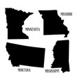 state silhouette collection vector image vector image