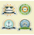 Summer sea emblems vector image vector image