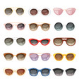 sunglasses cartoon eyeglasses or sun vector image