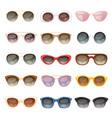 sunglasses cartoon eyeglasses or sun vector image vector image