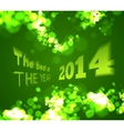 The best of the 2014 on green bokeh background vector image