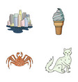 travel animal and other web icon in cartoon style vector image vector image