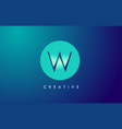 w letter logo icon design with paper cut creative vector image vector image