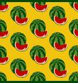 watermelon fruit pattern vector image vector image