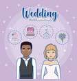 wedding concept design vector image vector image