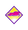 Wild Pig Razorback Jumping Side vector image vector image