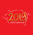 year pig chinese new year 2019 vector image vector image