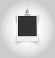 Empty vintage photo frame with clip vector image