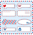 Postal stickers vector image