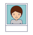 identification photo of man with short hair in vector image