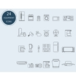 Line icons of home appliances vector image