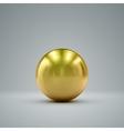 3D golden sphere vector image