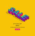 3d isometric pop art sale text vector image vector image