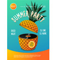 beach party summer music festival poster with vector image vector image