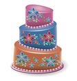 big cake vector image vector image