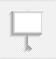 blank projection screen white icon with vector image vector image