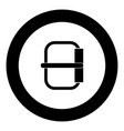 buckle icon black color in circle vector image