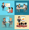 business meeting and presentation poster vector image vector image