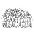 businesspeople team standing on sloping room vector image vector image