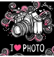Camera Design Black Background vector image