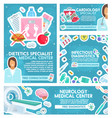cardiology dietetics and neurology medicine vector image vector image