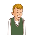 Cartoon smiling boy image eps10 vector image vector image