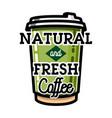 color vintage cafe emblem vector image vector image