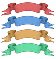 colored award ribbon banners for titles hand vector image
