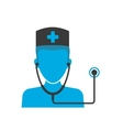 Doctors blue icon vector image vector image