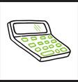 doodle icon calculator vector image