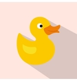 Duck toy flat icon vector image