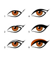eyeliners set Winged eyeliner is a whole lot vector image